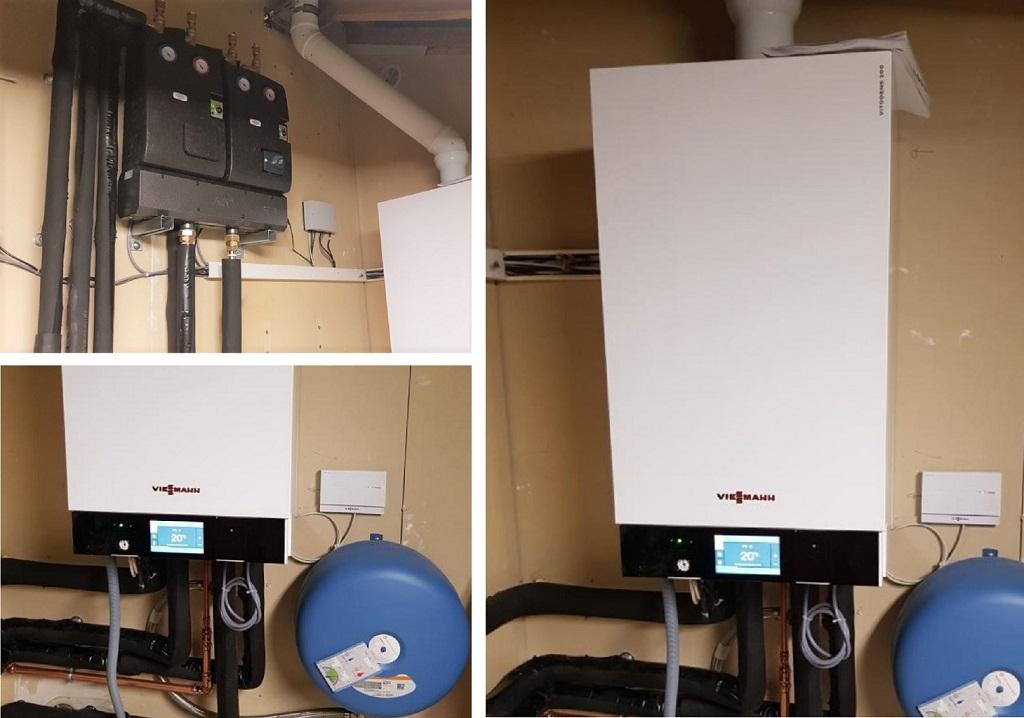 Remplacement chaudière gaz par chaudière gaz condensation viesseman vitodens 222 à Drumettaz-Clarafond