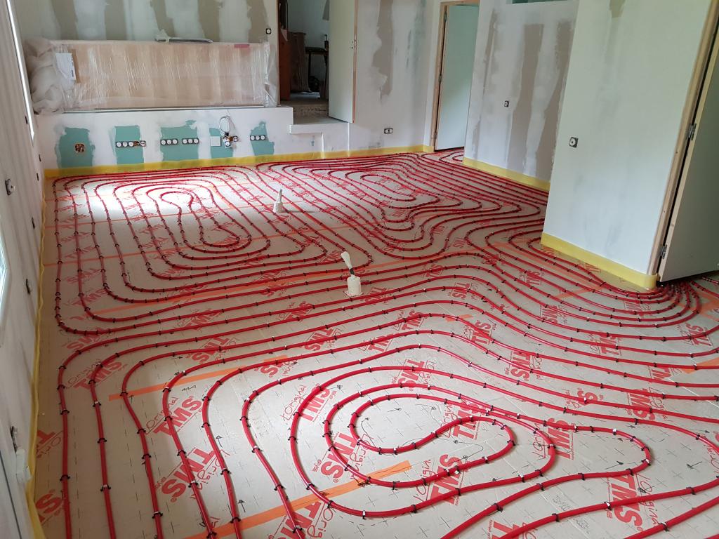 Pose, installation plancher chauffant basse température à eau à Valencin en Isère