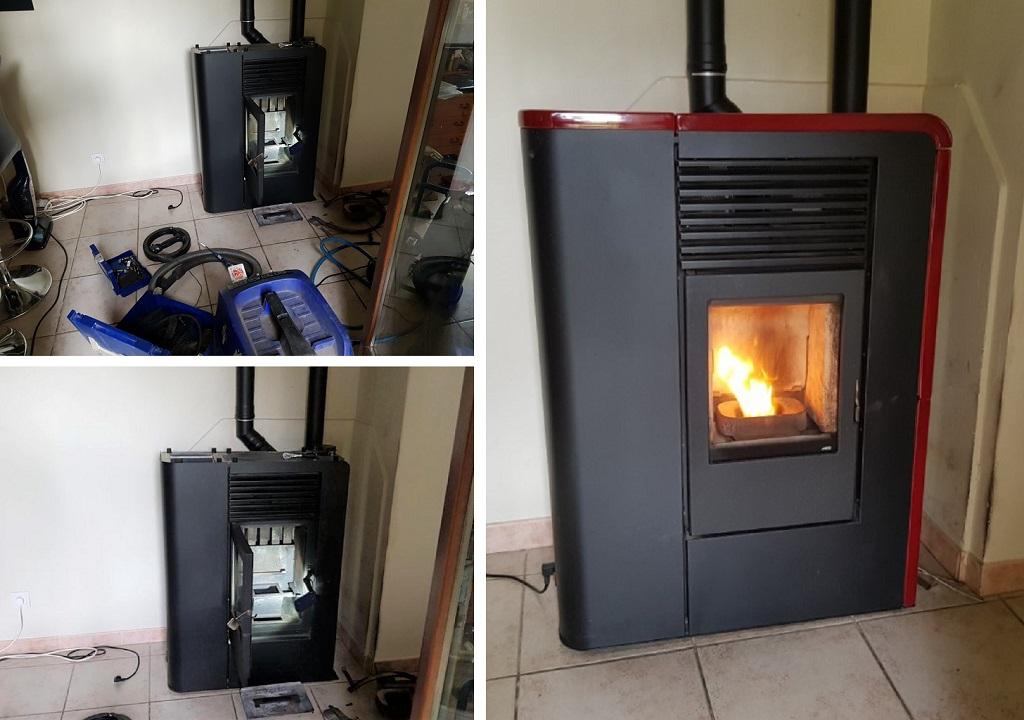 Entretien, vente, installation, garantie, dépannage poêle à granulé de bois MCZ flat
