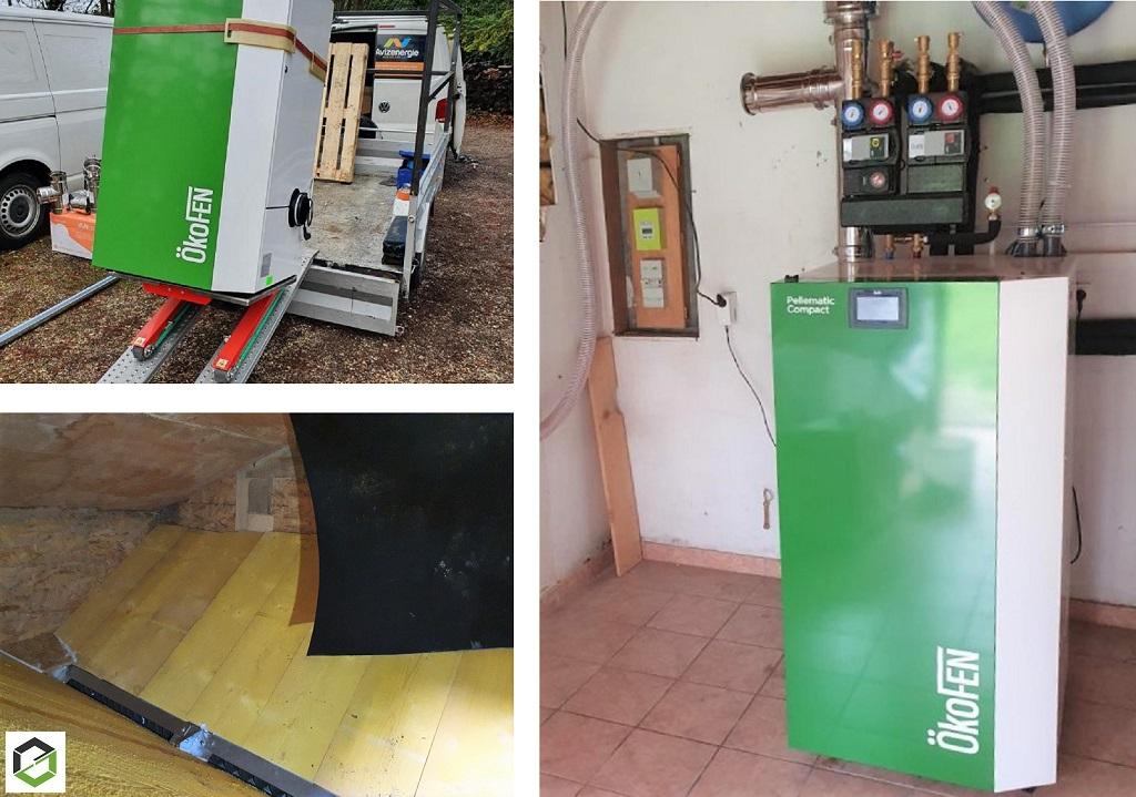 Installateur RGE Qualibois - pose d'une chaudière à granulés de bois compact