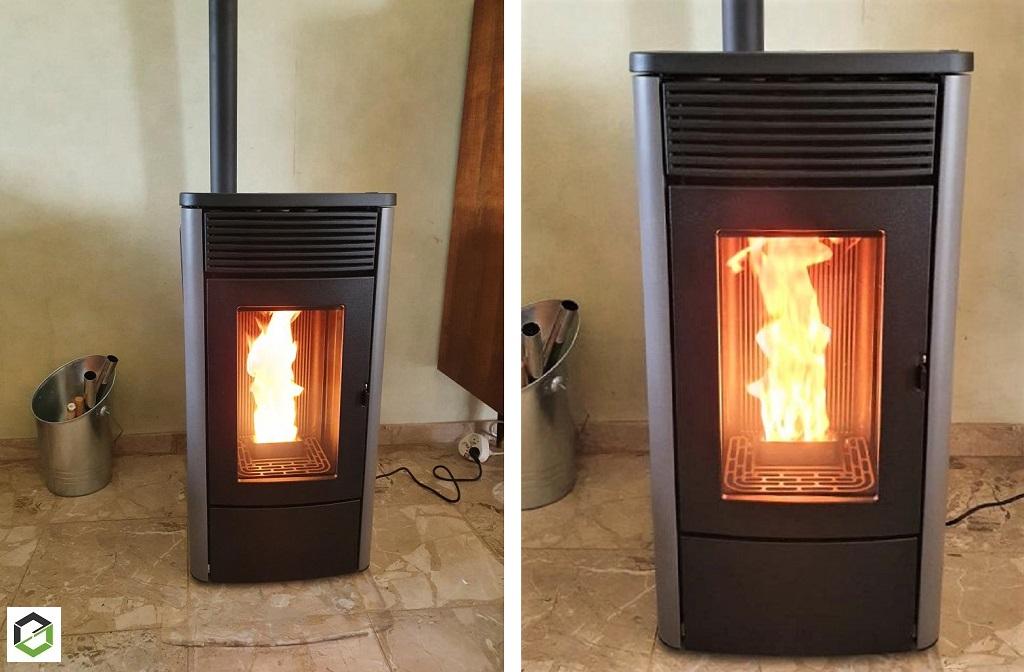 Vente, installation, pose artisan chauffagiste poêle à granulés de bois MCZ modèle TECLA