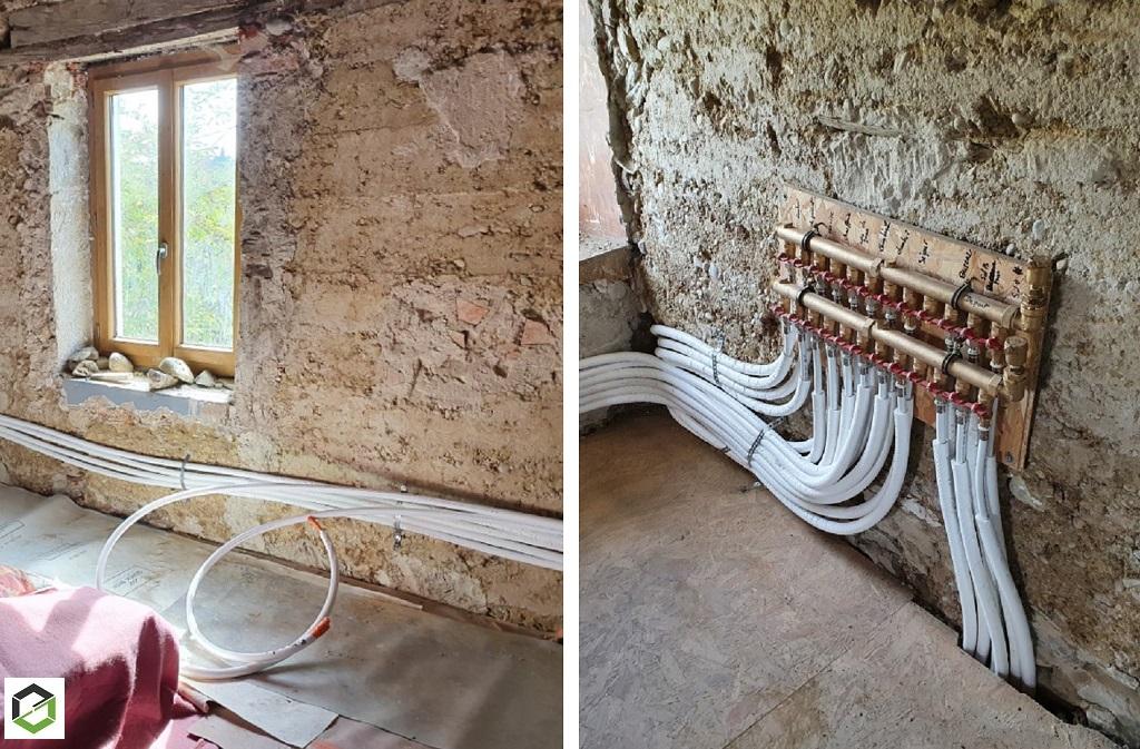 Création réseau de radiateur - maison en rénovation