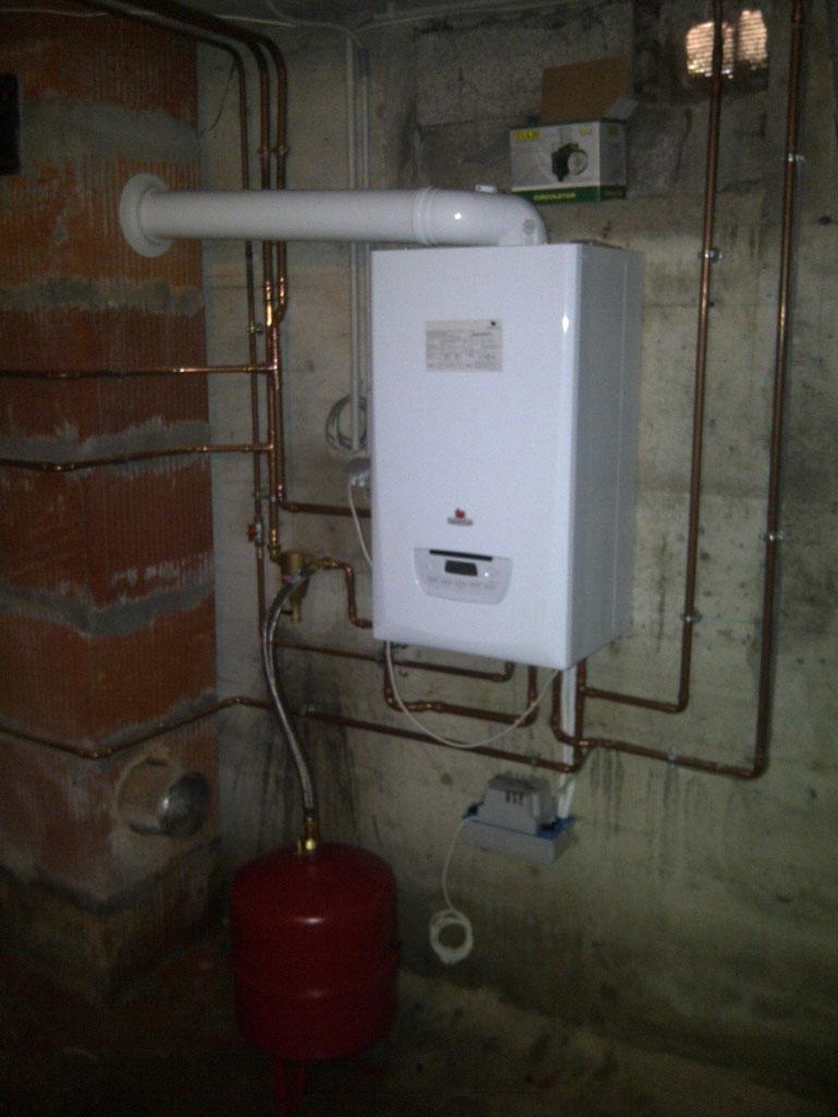 pose chaudière gaz à condensation Saunier Duval à villette d'Anthon 38 Isère