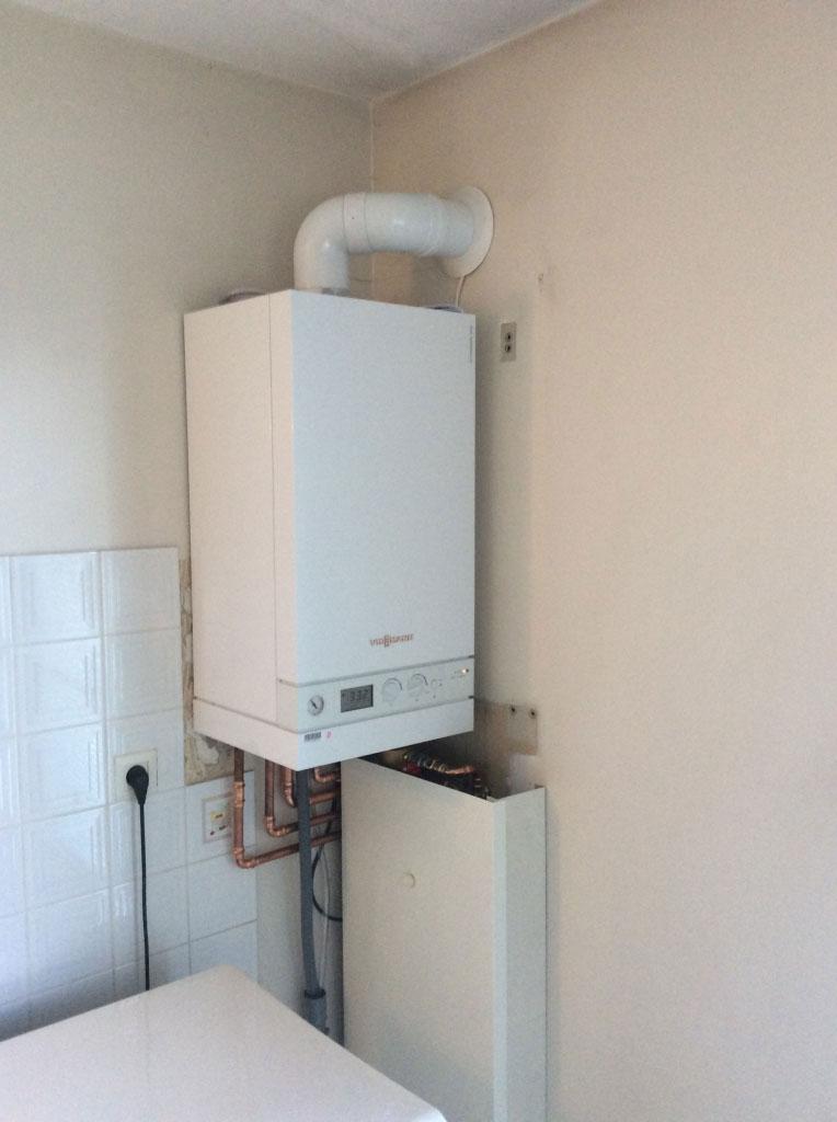 Installation chaudière gaz à condensation Viessmann à Heyrieux Isère 38