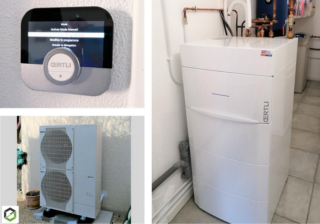 Installation pompe à chaleur Oertli Oenovia Colonne 11 MR