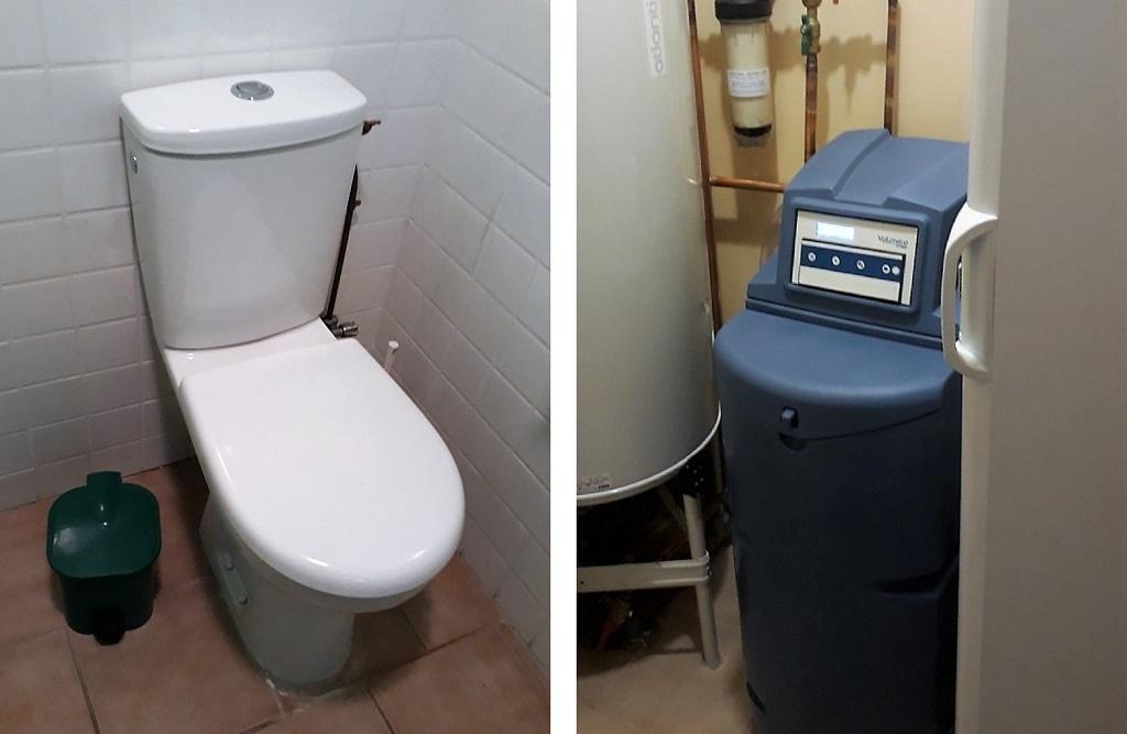Installation d'un adoucisseur et d'un WC