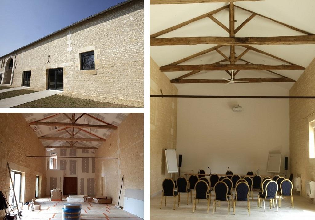 Rénovation d'une grange en salle de réunion