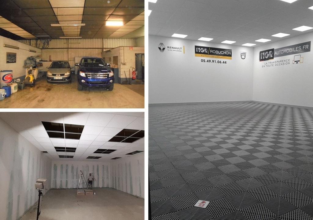 Création d'un studio photo pour un concessionnaire auto