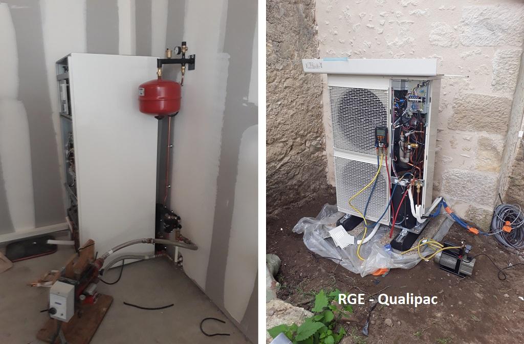 Mise en service d'une pompe à chaleur