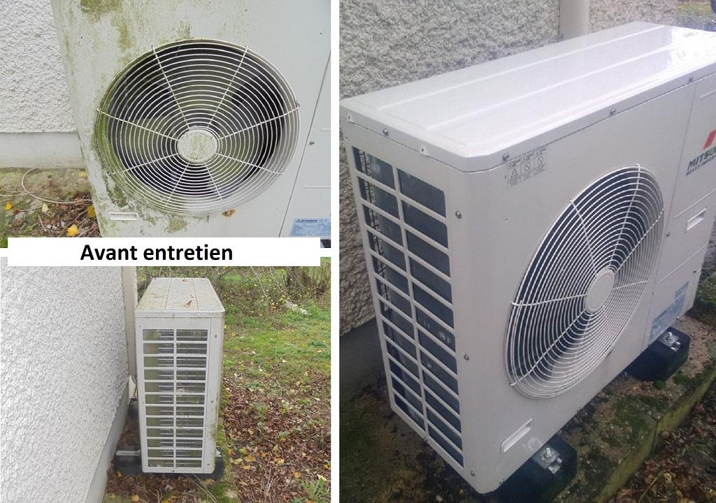 Nettoyage & Entretien D'une Pompe à Chaleur AIR/AIR qui n'avais jamais été entretenue