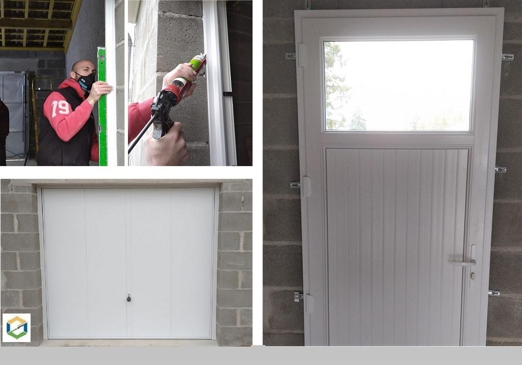 POSE DE MENUISERIE PVC ET ALUMINUM (porte et porte de garage)
