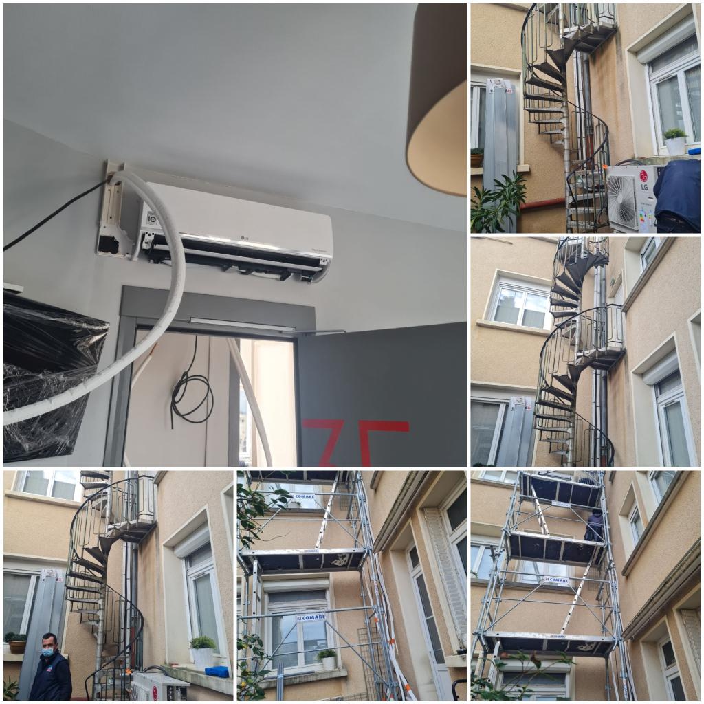 POSE D'UNE CLIMATISATION DANS UN HOTEL-Vienne (86)