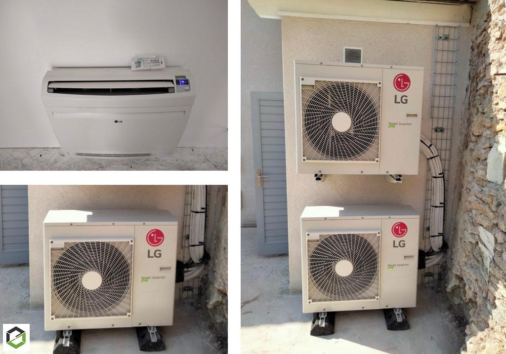 Installation POMPE A CHALEUR AIR/AIR LG