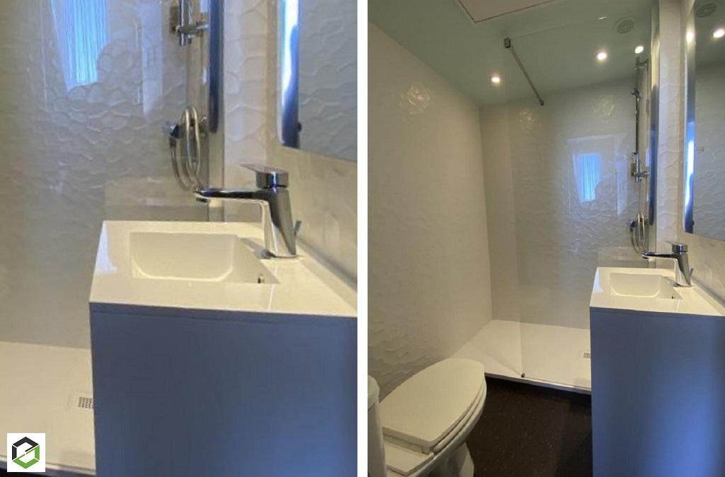 Rénovation d'une salle d'eau dans un hotel