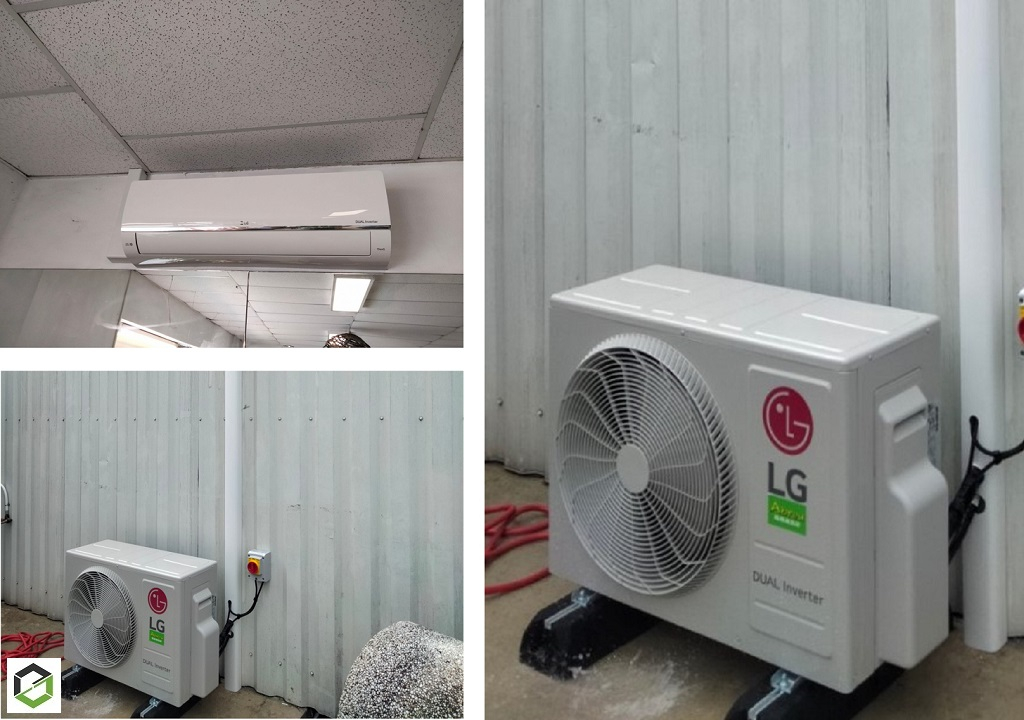 INSTALLATION POMPE A CHALEUR AIR/AIR LG (climatisation réversible)