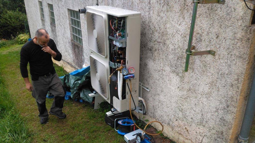 Mise en service d?une pompe à chaleur Toshiba