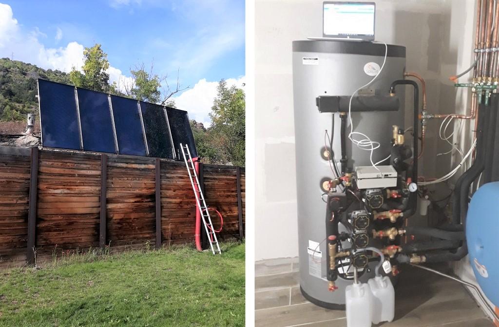 installation solaire combiné solisart et son pilotage par application smart phone.