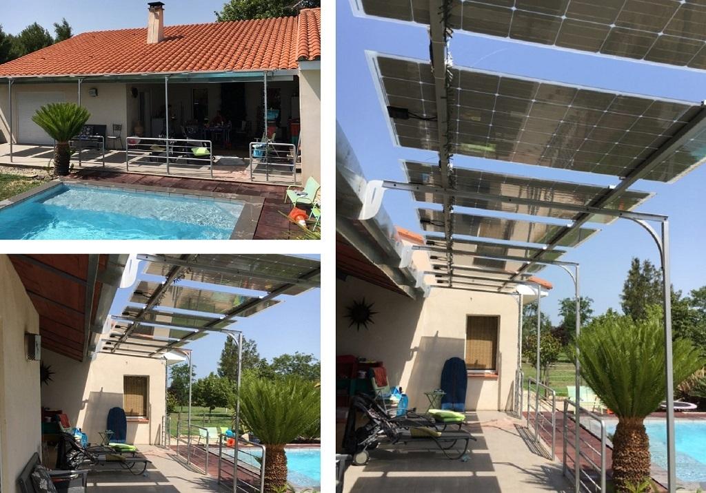 Verrière photovoltaïque en auto-consommation