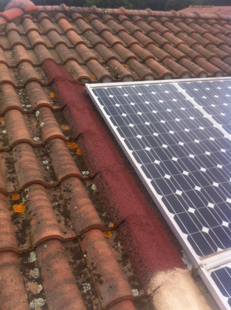 Reprise d'une installation photovoltaïque en toiture.