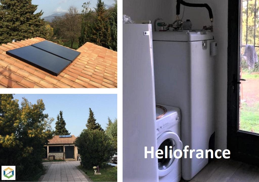 Installation chauffe eau solaire individuel Héliofrance