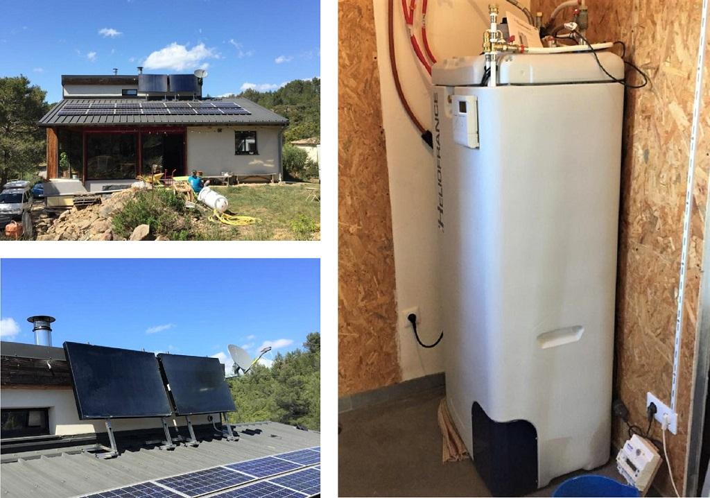 Installation chauffe eau solaire auto vidangeable (cesi)