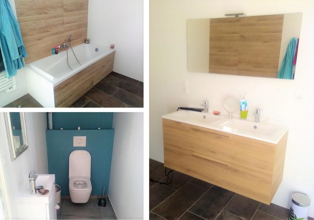 Réalisation d'une salle de bain et WC suspendus