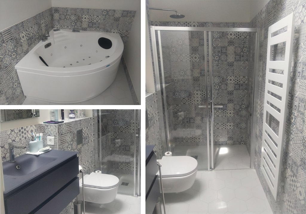 Création d'une salle de bain avec baignoire balnéothérapie
