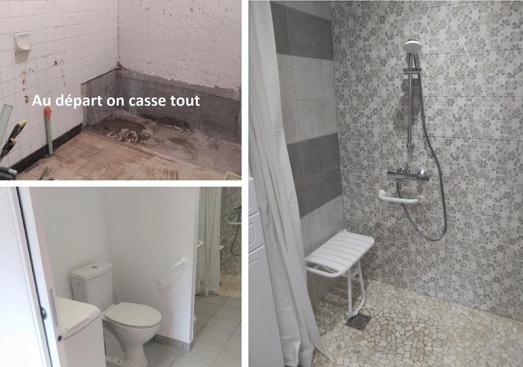 Rénovation d'une salle de bain pour accessibilité (PMR)