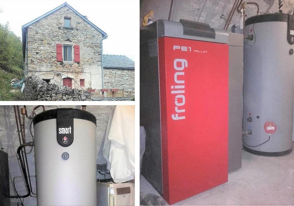 Installation chaudière à granulés P1 - FROLING au Buisson-Lozère (48)