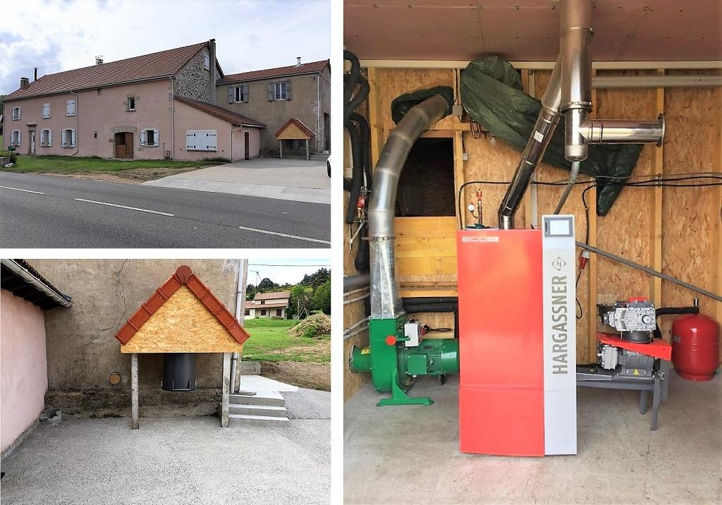 installation chaudière mixte Bois déchiqueté Hargasner à Huédour