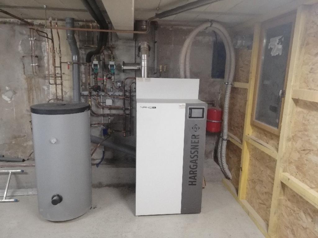 Installation chaudière à granulés 9kW de Hargasner