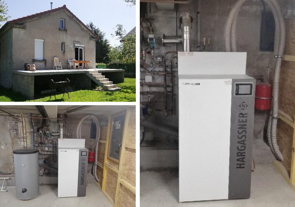 Installation chaudière à granulés 9kW de Hargasner-Lozère (48)