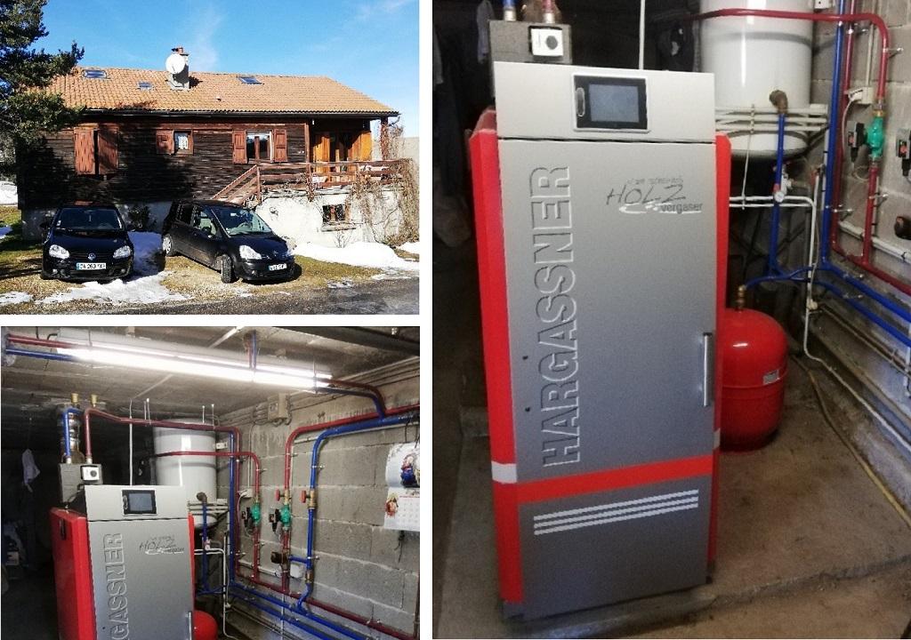 Installation chaudière à bûches 20kW de Hargasner -Lozère (48)