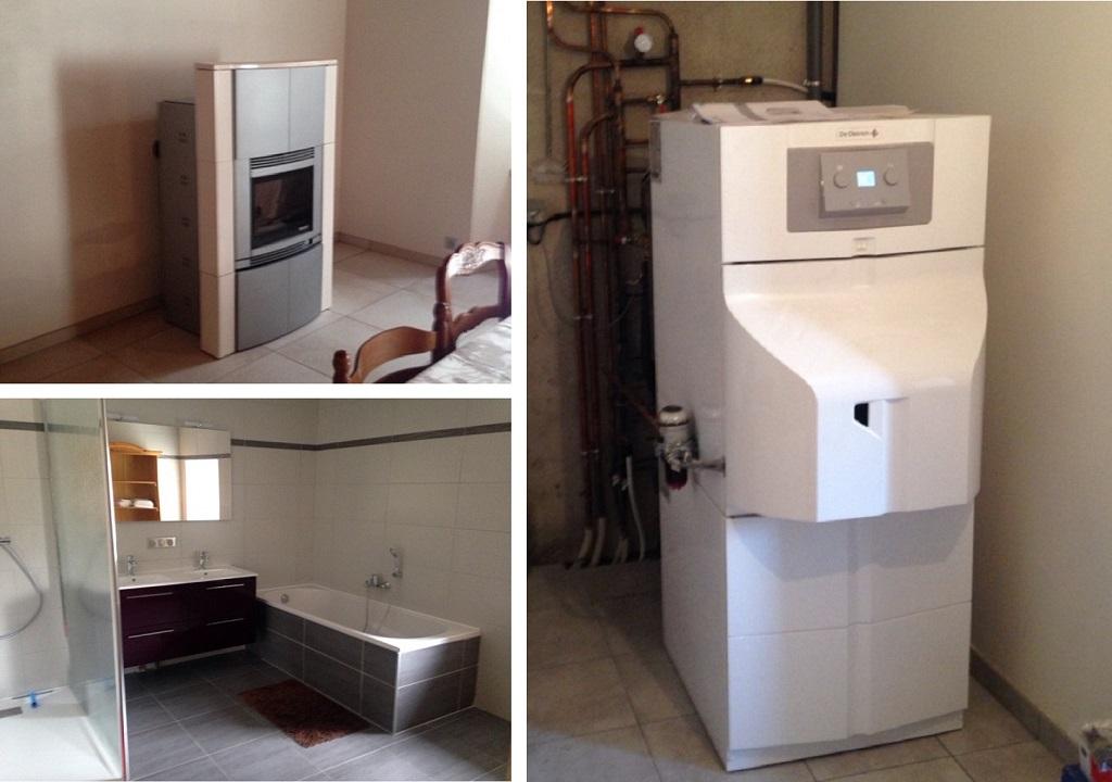 Installation d'une chaudière fioul à condensation et d'un poêle à granulés-Lozère (48)