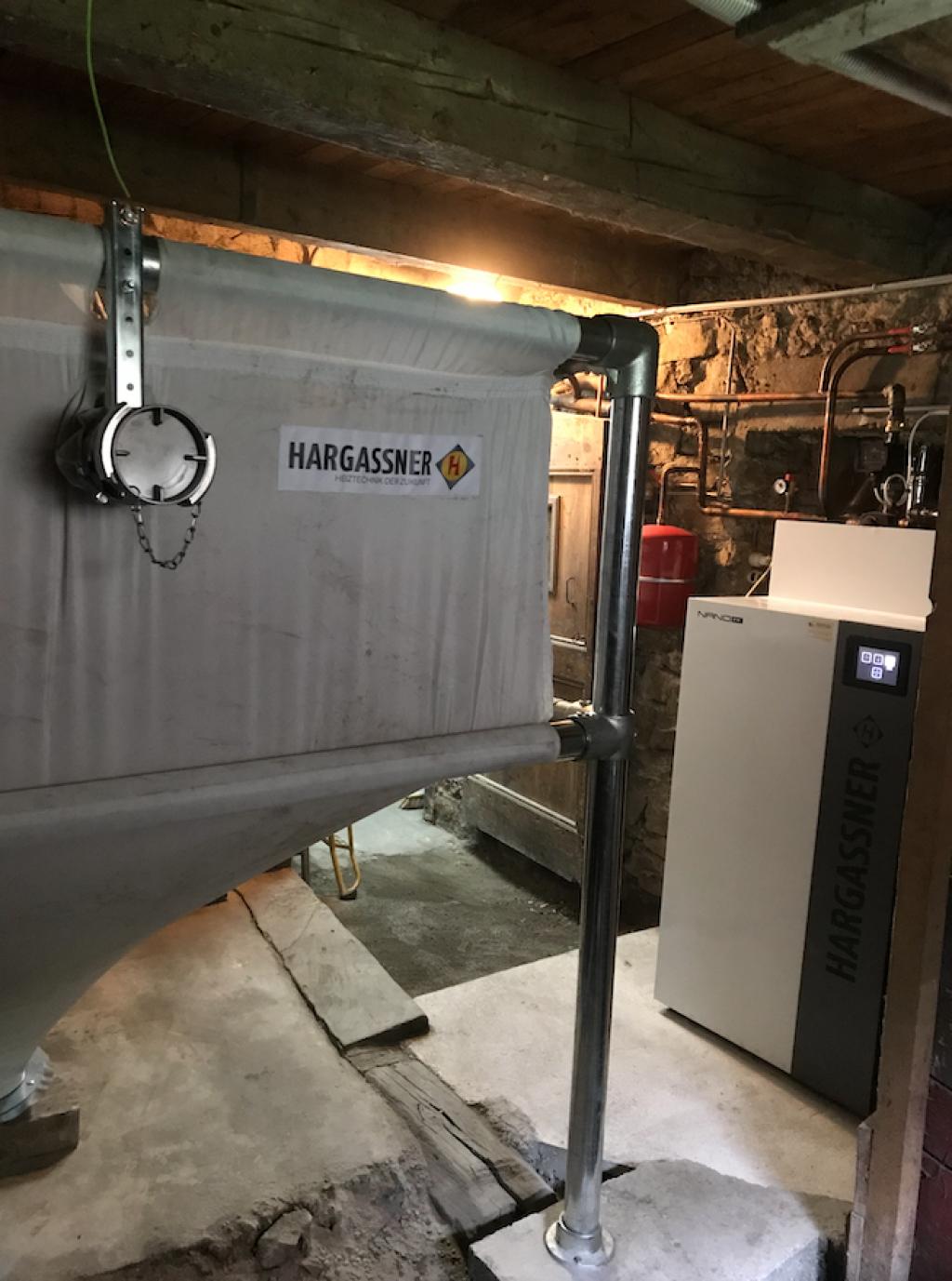 Installation chaudière à granulés 15kW de Hargassner
