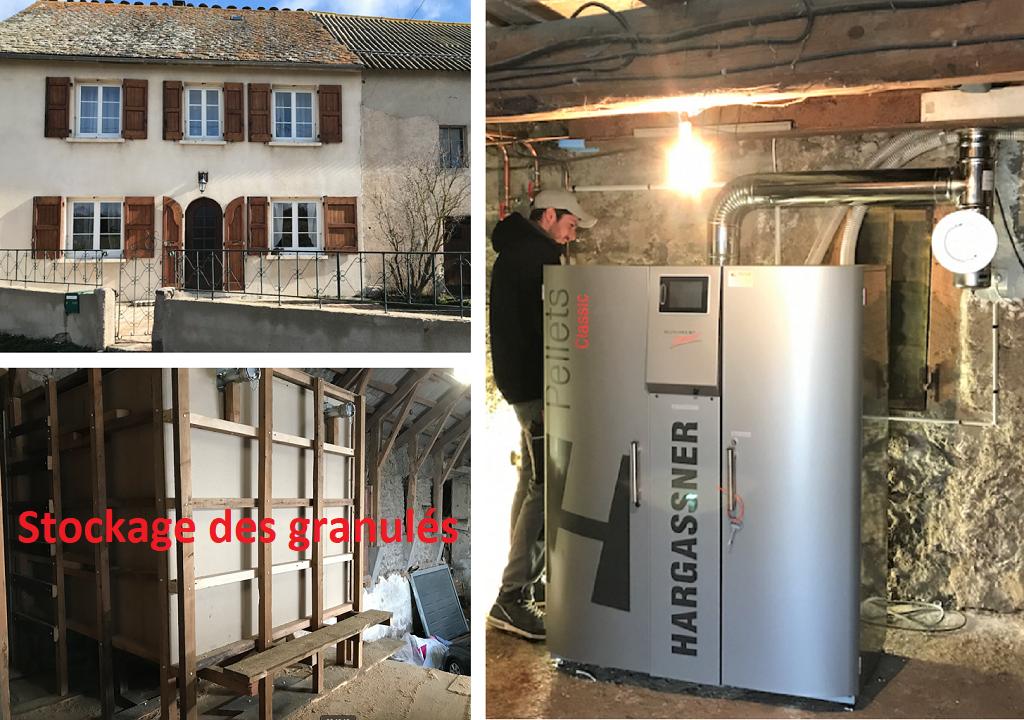 Installation chaudière à granulés 15kW de Hargassner au Maurels-Lozère (48)