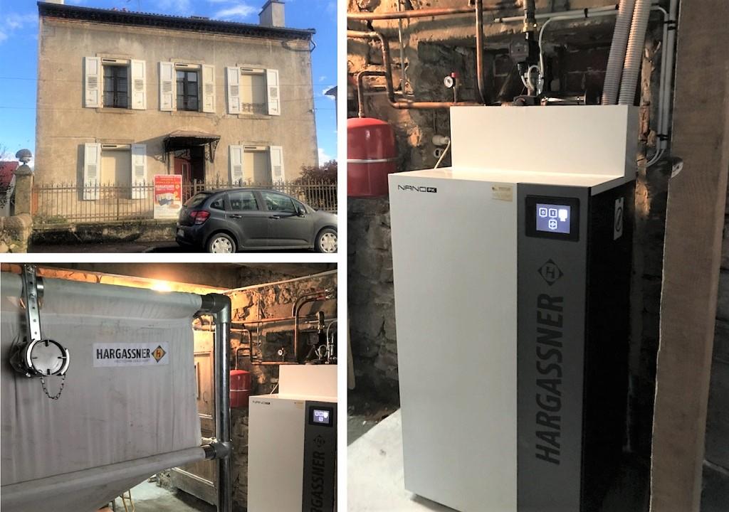 Installation chaudière à granulés 15kW de Hargassner-Lozère (48)