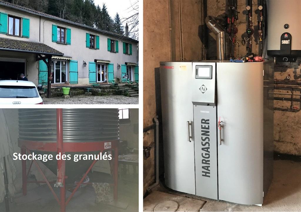 Installation chaudière à granulés 22kW de Hargassner-Lozère (48)