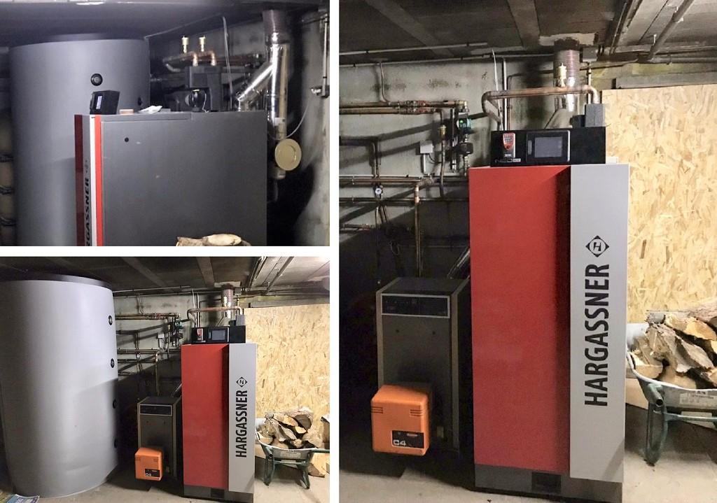 Installation chaudière à bûches 20kW de Hargasner-Lozère (48)