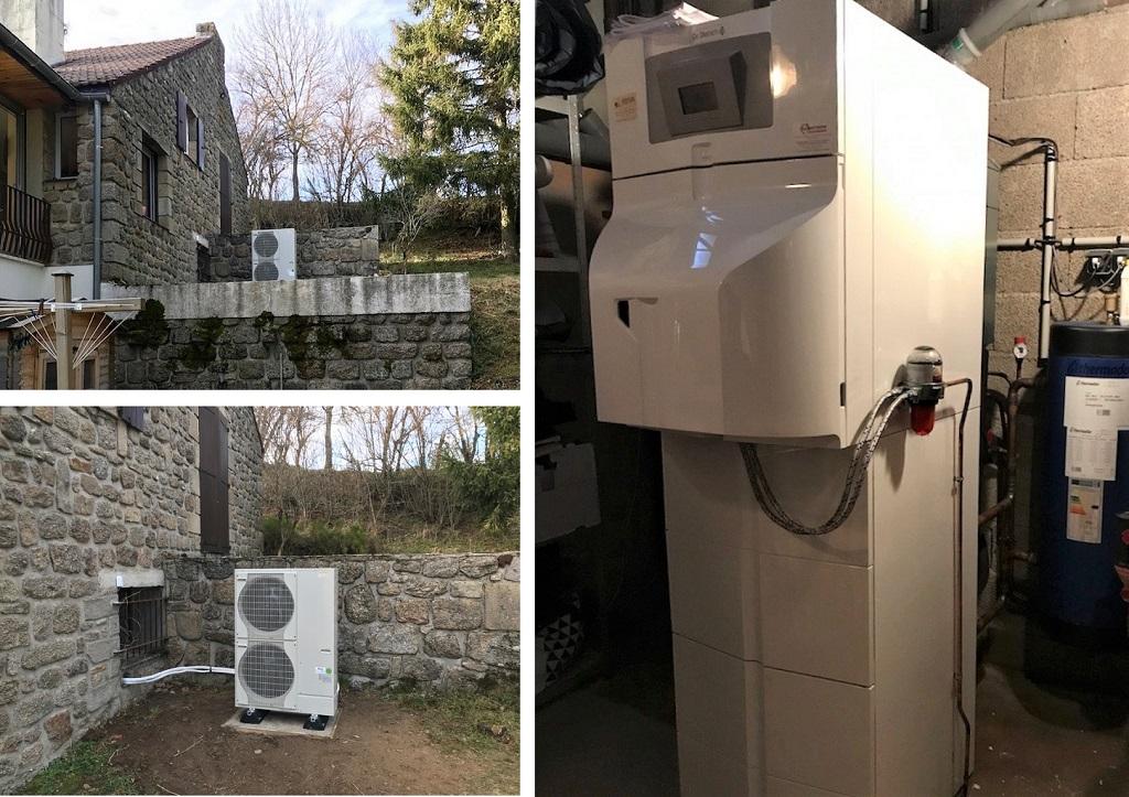 Installation pompe à chaleur Hybride Fioul Condensation De Dietrich-Lozère (48)