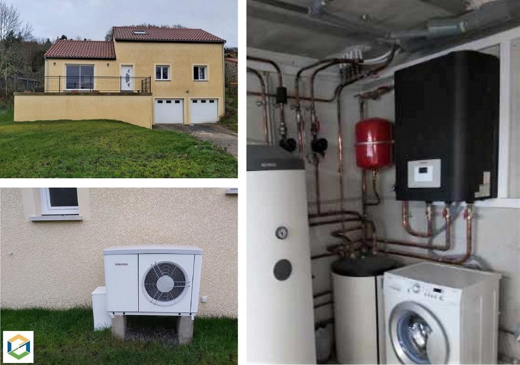 Installation d'une pompe à chaleur Air-Eau STIELBEL-Lozère (48)