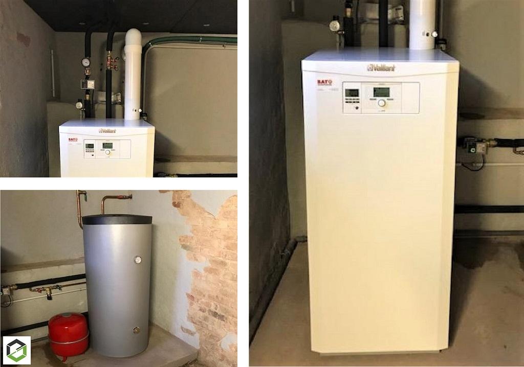Installation d'une chaudière gaz à condensation VAILLANT