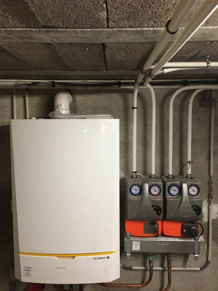 Chaudière (chauffagiste) gaz à condensation (haute performance énergétique) De Dietrich Innovens à Thaon les Vosges 88150 Vosges