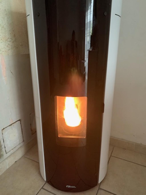 Poêle à granulés de bois (pellets) Fonte Flamme CURL 8