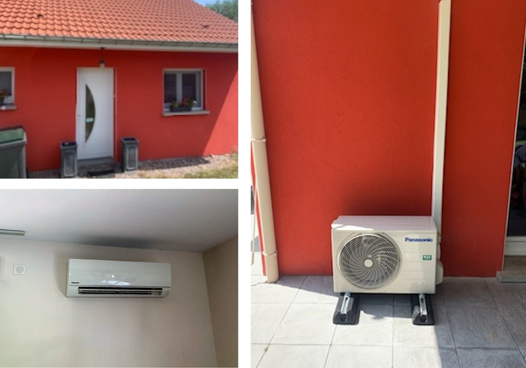 Installation d'une climatisation mono-split Panasonic