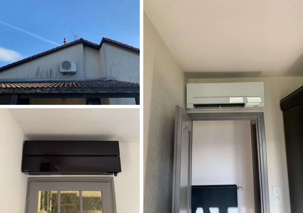 Installation d'une climatisation réversible MITSUBISHI (PAC)