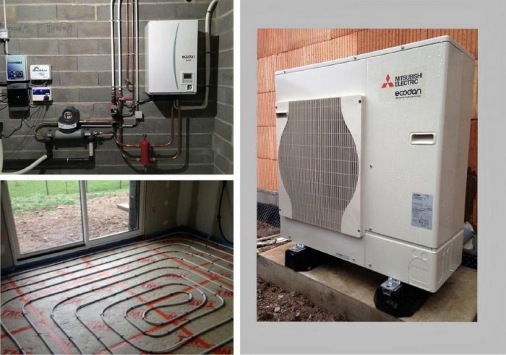 Aérothermie (PAC) pompe à chaleur air/eau Mitsubishi Ecodan à Thaon les Vosges 88150 Vosges