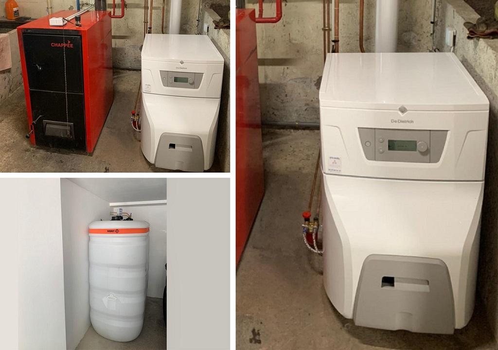 Chaudière fioul à condensation (haute performance energétique)  RGE