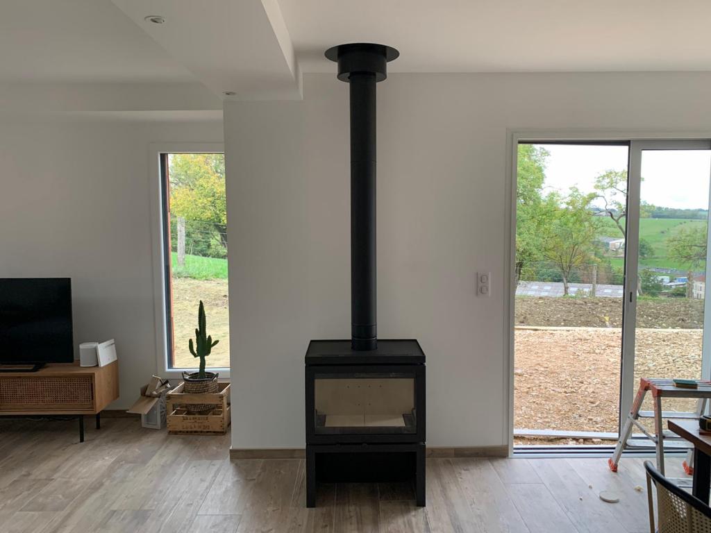 installation poêle à bois (bûches) - Entreprise QUALIBOIS RGE