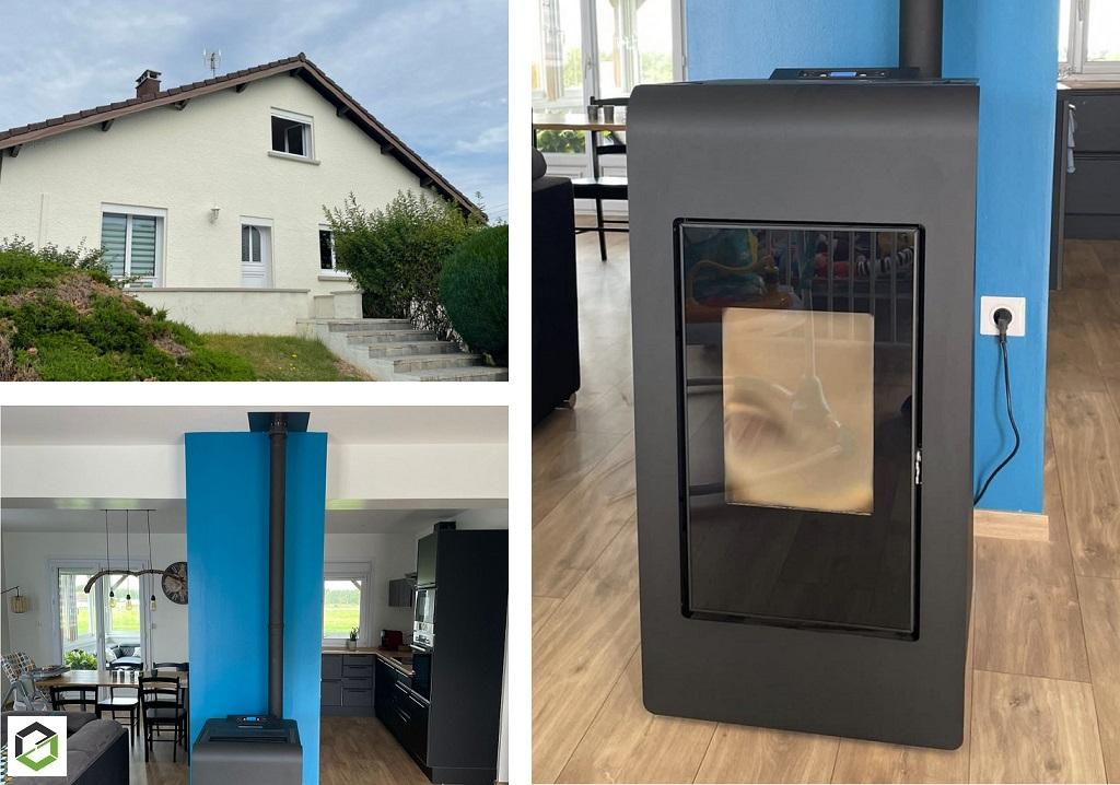 installation poêle à granulés (pellets) - Entreprise RGE QualiBois-Vosges (88)